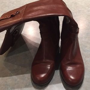 Bandolino brown knee length leather boots